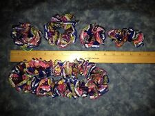 Multi-color and Metallic Handmade Crocheted Hair Accessories 5 Styles Available