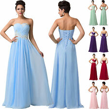 2014 CHEAP~Long Gown Bridesmaid Homecoming Evening Prom Party Formal Dress 6-20
