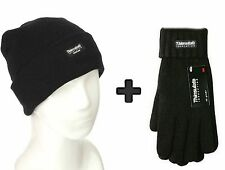 THERMAL HAT & GLOVES UNISEX KNIT THINSULATED INSULATED WINTER WARMER