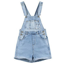 js15 Celebrity Style Vintage Denim White Wash Playsuits Shorts Overalls Rompers