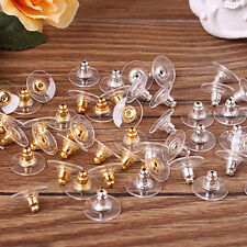 50pcs Earring Backs Stoppers Findings Ear Post Nuts Jewelry Findings Gold/Silver