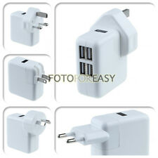 4 Ports USB Portable Travel Home Wall AC Power Charger Adapter US/EU/UK/AU Plug
