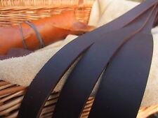 """50"""" LONG OIL TANNED CHOCOLATE BROWN 2.7mm THICK REAL LEATHER STRAP VARIOUS WIDTH"""