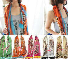 Giraffe printing scarf fashion ladies square thin shawl wrap lot NL-1862