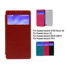For Huawei Ascend G750 G740 Honor 3C 3X G610 C8815 Y511 PU Leather Case Cover