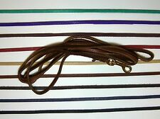 Handmade bison/buffalo leather dog leash, your choice of color
