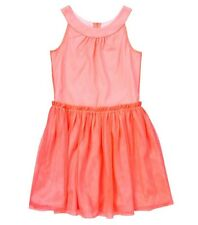 Crazy 8 by Gymboree Girls Neon Peach Tulle Dress, Sizes 12 and 14