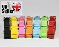 Adjustable for different sizes strong nylon dog puppy collar with clip for lead