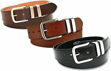 """NEW MENS BLACK BROWN OR TAN LEATHER LINED BELT 5056 SIZE MEDIUM 34"""" WAIST NWT"""