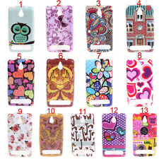 Owl Flower Smooth silicone Tpu Gel Soft Back Skin Case For Sony Xperia E1