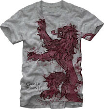 Game of Thrones HBO Solo Lannister Lion Crest Men's Grey NWT Licensed T-Shirt