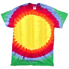 Colortone Kids Rainbow Tie Hand Dye Short Sleeve Crew Neck Top T-Shirt Size XS-L