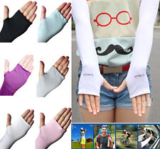 Arm Sport Cooling Sleeves Gloves UV Sun Protection Cover Golf Driving Basketball