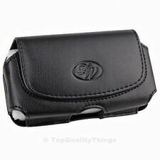 New Black Horizontal Leather Pouch Case with Belt Clip Holster for Cell Phones