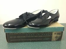 NEW LEO'S DANCE BIG GIRLS & WOMAN BLACK PATENT LEATHER TAP SHOES  *MANY SIZES**