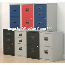 2 Drawer Filing Cabinet~BISLEY-Lockable-A4~Coloured Choice