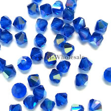 4mm Capri Blue AB (243 AB) Swarovski crystal 5328 / 5301 Loose Bicone Beads
