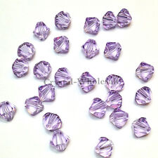 4mm Violet (371) Genuine Swarovski crystal 5328 / 5301 Loose Bicone Beads