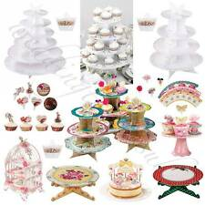 Shabby Chic Luxury Paper Cake Stands Vintage Style Tea Party Accessories