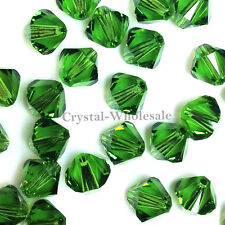 3mm Fern Green (291) Genuine Swarovski crystal 5328 / 5301 Loose Bicone Beads