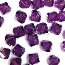 6mm Amethyst (204) Genuine Swarovski crystal 5328 / 5301 Loose Bicone Beads