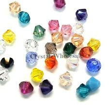 6mm Mix Color Genuine Swarovski crystal 5328 / 5301 Loose Bicone Beads