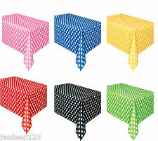 Polka Dots Spots Rectangle Plastic Tablecover Table Cloth Party Supplies Wedding