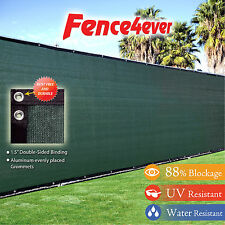 4' Tall 4'x50' 4ft Green Fence Privacy Screen Cover Mesh Windscreen Fabric Yard