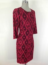Marc New York Andrew Marc NWT Raspberry Lace Dress with Black Faux leather trim