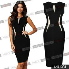 European Fashion Empire Waist Slim Retro Business Club Cocktail Pencil Dress