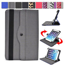 """Universal AR4 360 Rotating Folding Folio Stand Cover fits 7"""" Tablets E-Readers"""