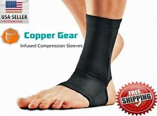 COPPER ANKLE SLEEVE MEN WOMEN NEW! Athletic Sport Health Wear Compression Sleeve