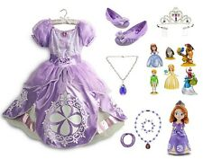 Disney Store SOFIA THE FIRST Dress-Up Lot COSTUME Toy Shoes Tiara Sophia SIZE 4