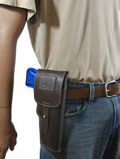 New Barsony Brown Leather Flap Gun Holster Smith & Wesson Full Size 9mm 40 45