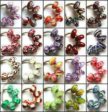 100pcs Wholesale Lampwork Murano Glass Beads Fit European Charm Bracelet NO.01