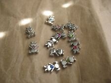 Birthstone Color Accent Girl Alloy Floating Charm for glass lockets 1pc
