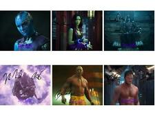Guardians Of The Galaxy Set 1-6 SIGNED AUTOGRAPHED 10X8 PRE-PRINT PHOTO