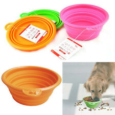 Pet Dog Cat Feeding Water Feeder Silicone Collapsible Travel Novelty Bowl Dish