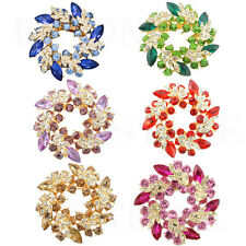 Vogue Ladies Rhinestone Crystal Alloy Flower Bouquet Brooch Pin Multicolor Hot