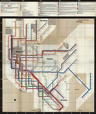 1972 Massimo Vignelli New York Subway Map Reprint  Largest Size