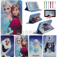 """Disney Frozen Leather Case Cover for Samsung Galaxy Tab3 7.0 7"""" P3200 T210 T211"""