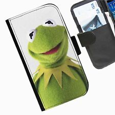 Muppets Leather wallet phone personalised case for Sony Xperia Phone