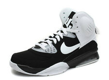 630926 001 New Nike Mens Air Ultimate Force Basketball Shoes White/Black S 8-14