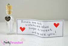 Valentines Day Personalised Message In a Bottle Romantic Present Gift For Her