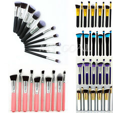 10pcs Pro Kabuki Cosmetic Make Up Powder Brushes Set Blusher Foundation Tool