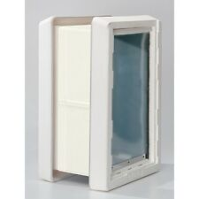 """Ideal """"RUFF WEATHER"""" Insulated Pet Dog Door 2 Flaps +  WALL KIT-------*ALL SIZES"""