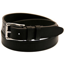 Made In USA 1 1/4 Black Latigo Leather Belt Saddle Groove Stainless Steel Buckle