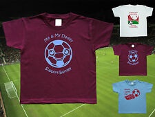 BURNLEY Football Baby/Kid's/Children's T-shirt Top Personalised- Any colour/team