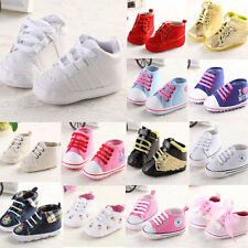 New Kids Infant Toddler Sneakers Baby Boy Girl Soft Sole Crib Shoes 0-18Months2
