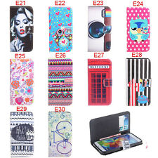 Deluxe E Owls Tribal Wallet Leather Flip Case For Samsung Galaxy S5 i9600